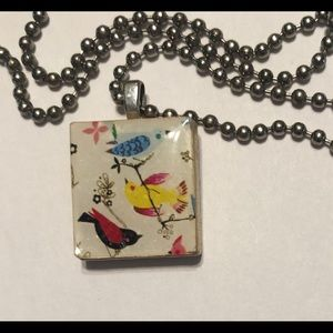 Handcrafted bird necklace